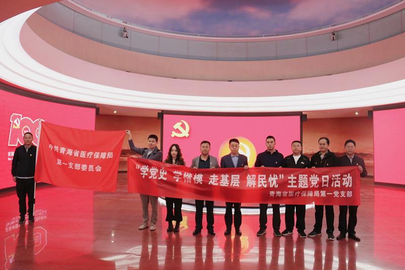 李永平局长赴海北州调研医保工作并参加所在党支部主题党日活动